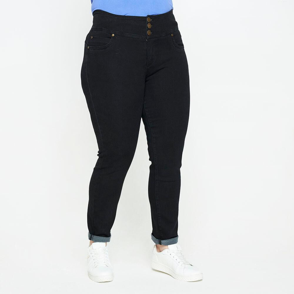 Jeans Tiro Alto Recto Push Up Mujer Sexy Large image number 0.0