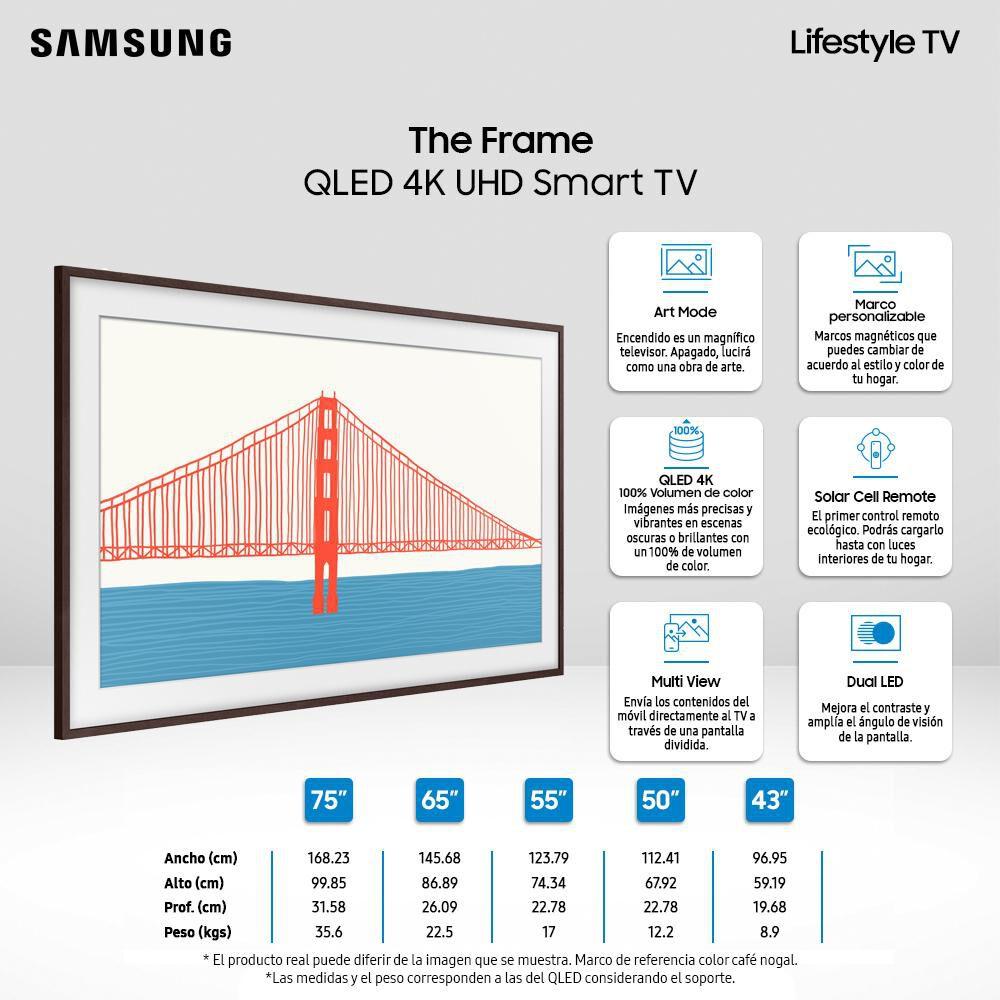 """Qled Samsung The Frame / 50 """" / Ultra Hd / 4k / Smart Tv 2021 image number 2.0"""