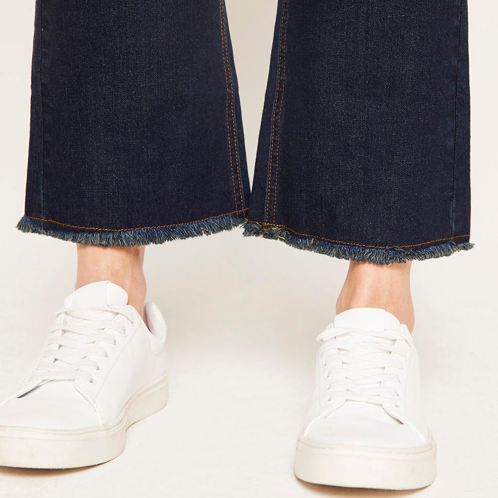 Jeans Flare Tiro Alto Flare 4 Botones Mujer Kimera image number 5.0
