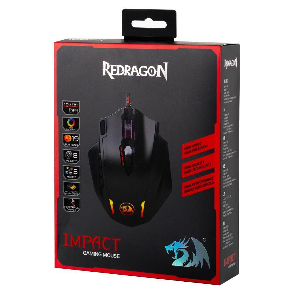 Mouse Gamer Redragon Rgb Impact M908 - image number 3.0