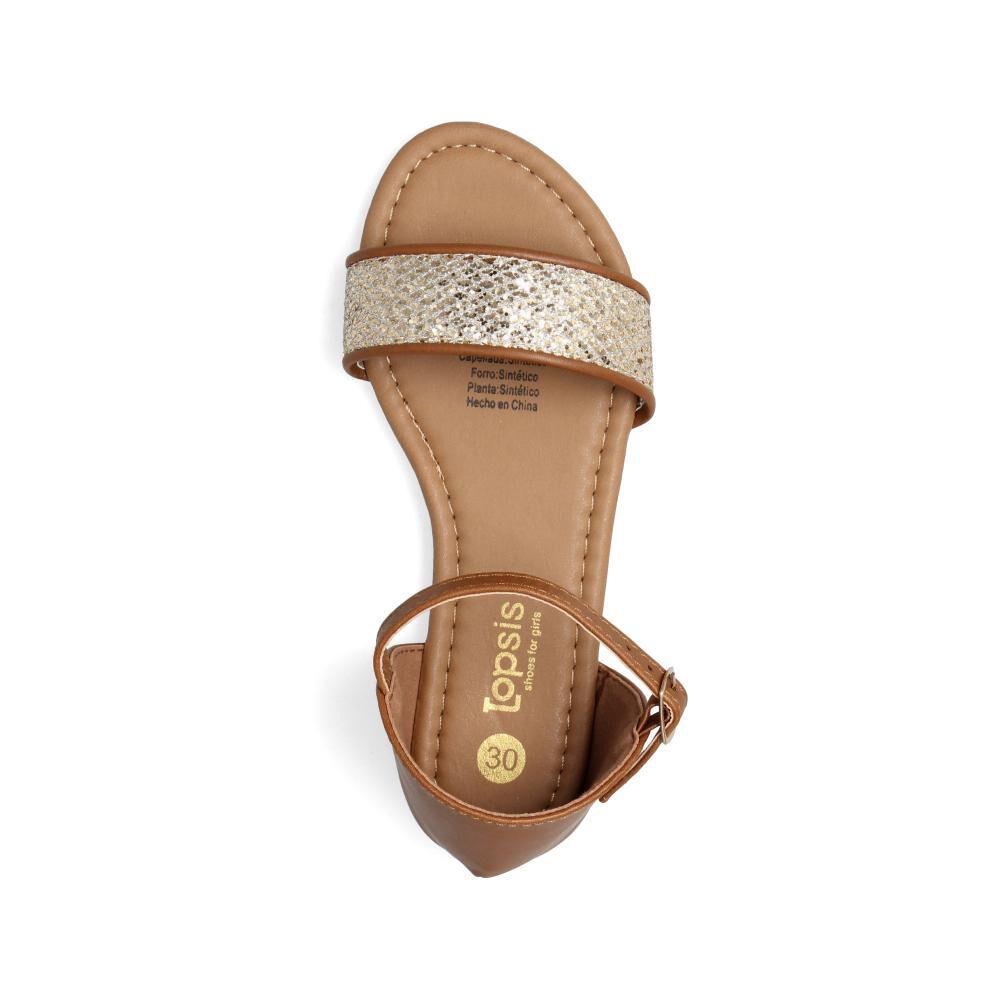 Sandalia Topsis Sand Glitter image number 3.0