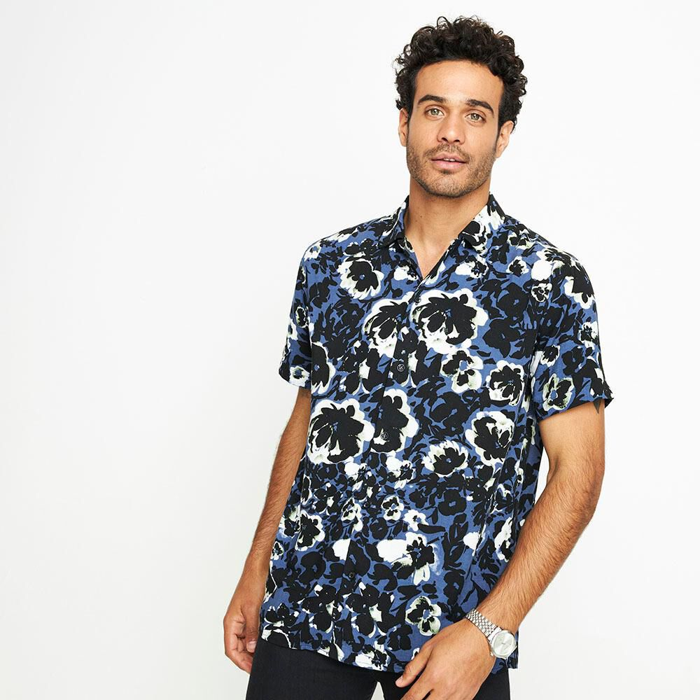 Camisa Manga Corta Hombre Az Black image number 0.0