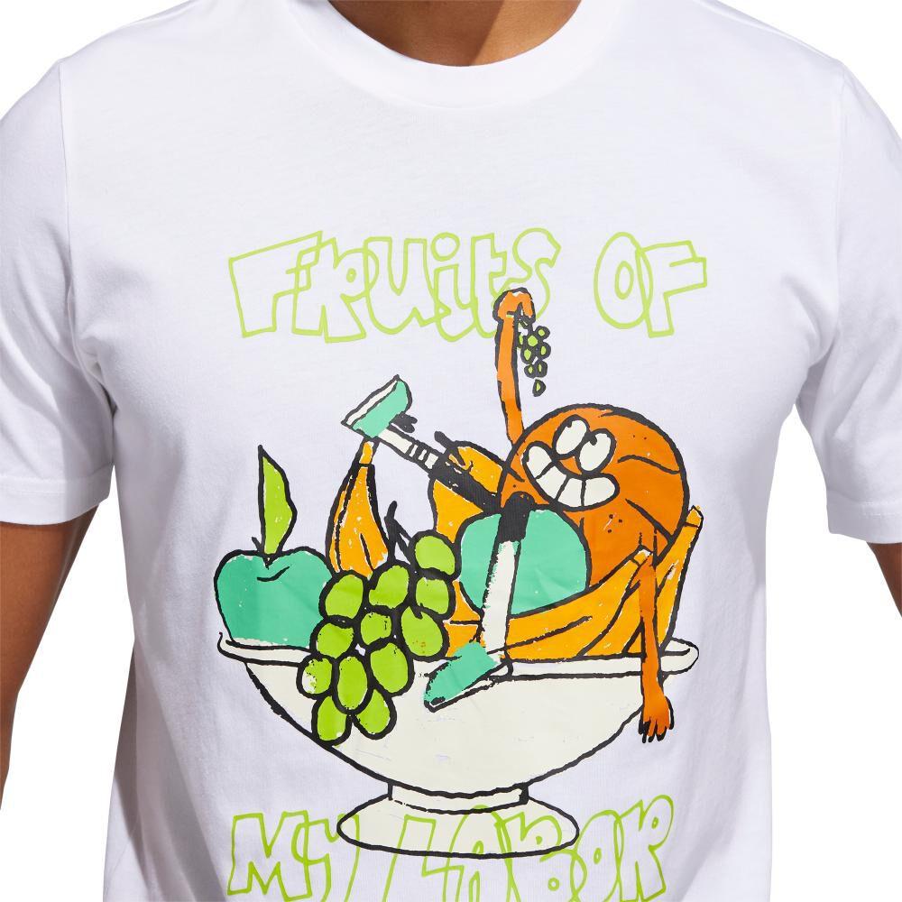 Polera Hombre Adidas Estampado De Frutas Lil Stripe image number 5.0