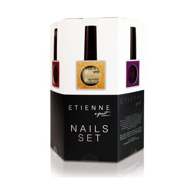 Set De Uñas Etienne Hexagonal