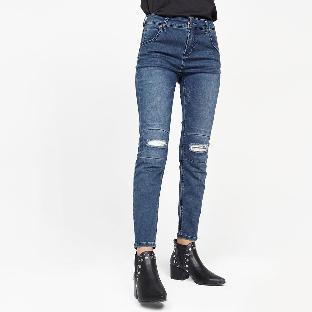 Jeans Mujer Tiro Alto Relaxed Rolly go image number 0.0