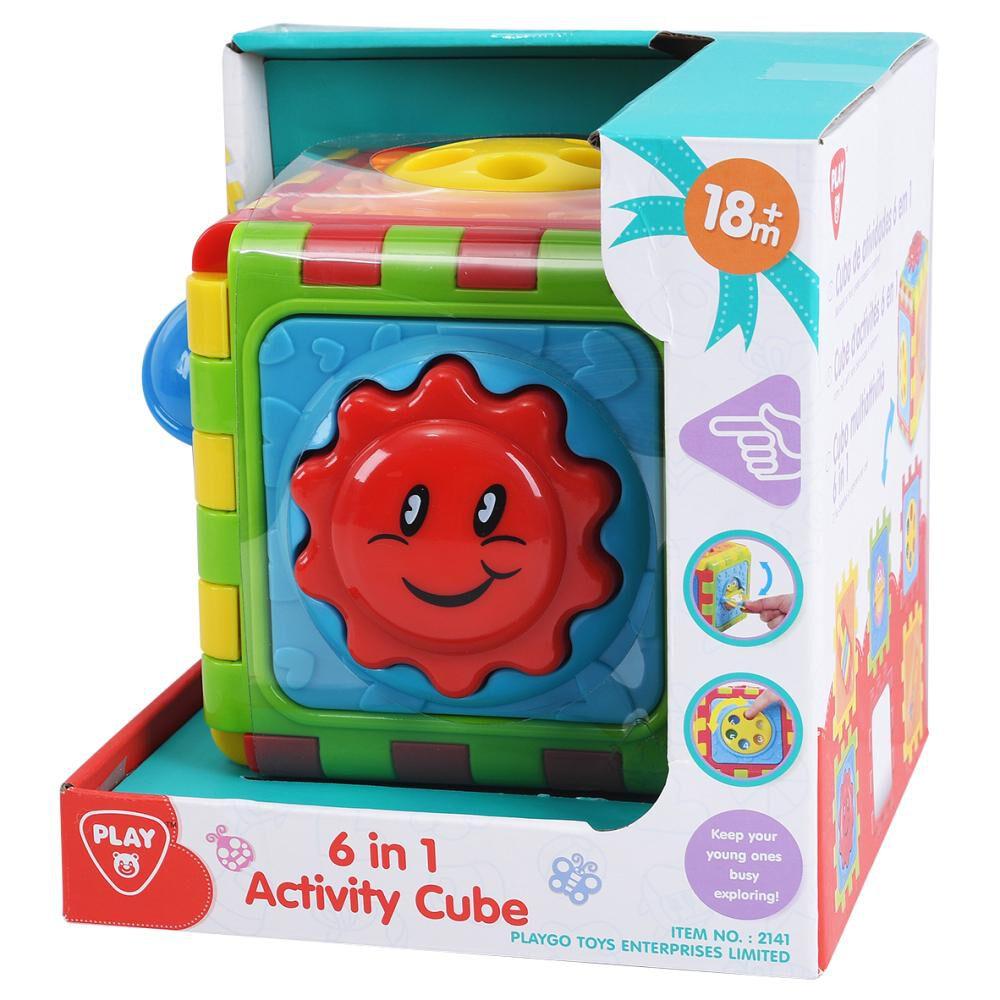 Juego Didactico Hitoys Cubo De Actividad 6 En 1 image number 0.0