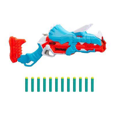 Lanzador De Dardos Nerf Dinosquad Tricera-blast