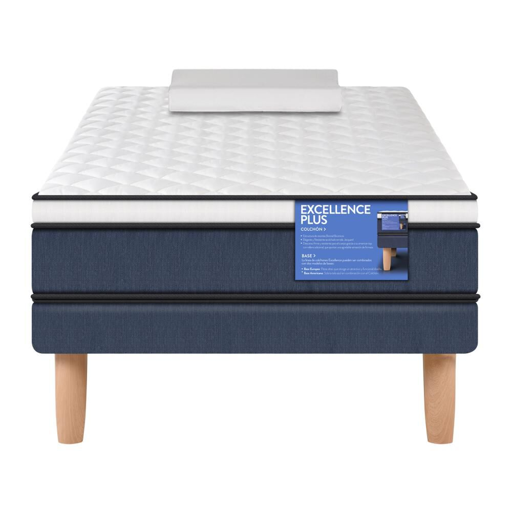Cama Europea Cic Excellence Plus / 1.5 Plazas / Base Normal + Almohada image number 0.0