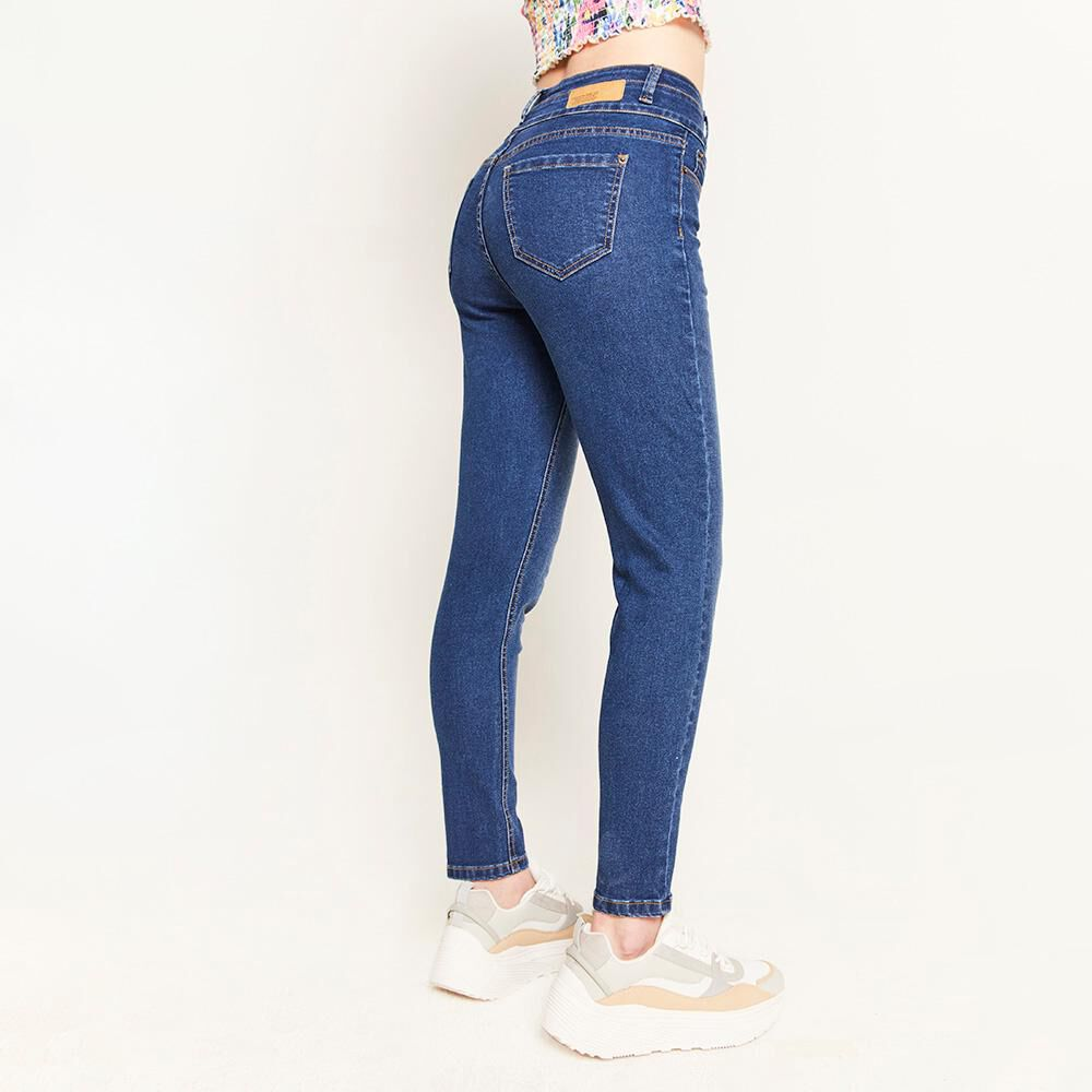 Jeans Pretina Alta Botones Frontales Sculpture Mujer Freedom image number 2.0