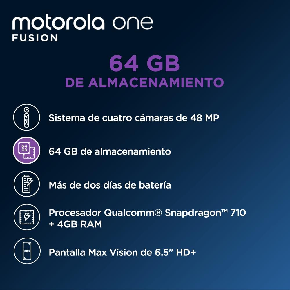 Smartphone Motorola One Fusion 64 Gb / Liberado image number 2.0