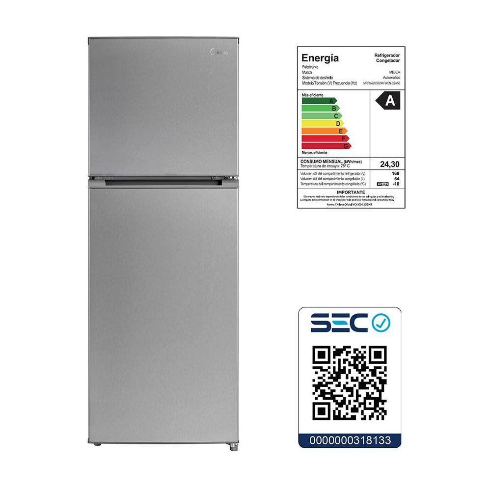 Refrigerador Top Freezer Midea MRFS-2260S294FWEN / No Frost / 222 Litros image number 5.0