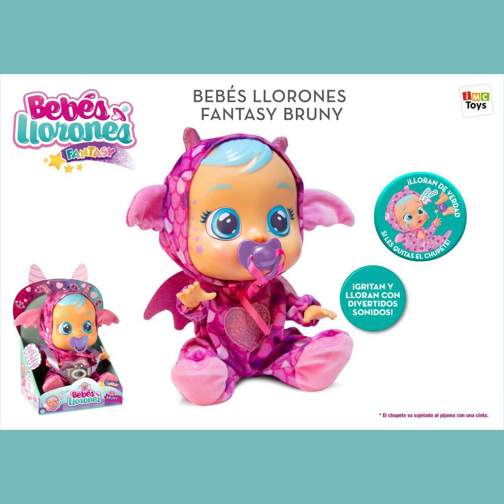 Muñeca Cry Babies Bebes Llorones Bruny image number 1.0