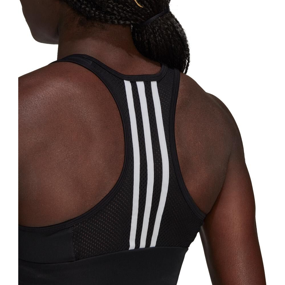 Peto Deportivo Mujer Adidas 3-stripes Padded Sports Crop Top image number 5.0