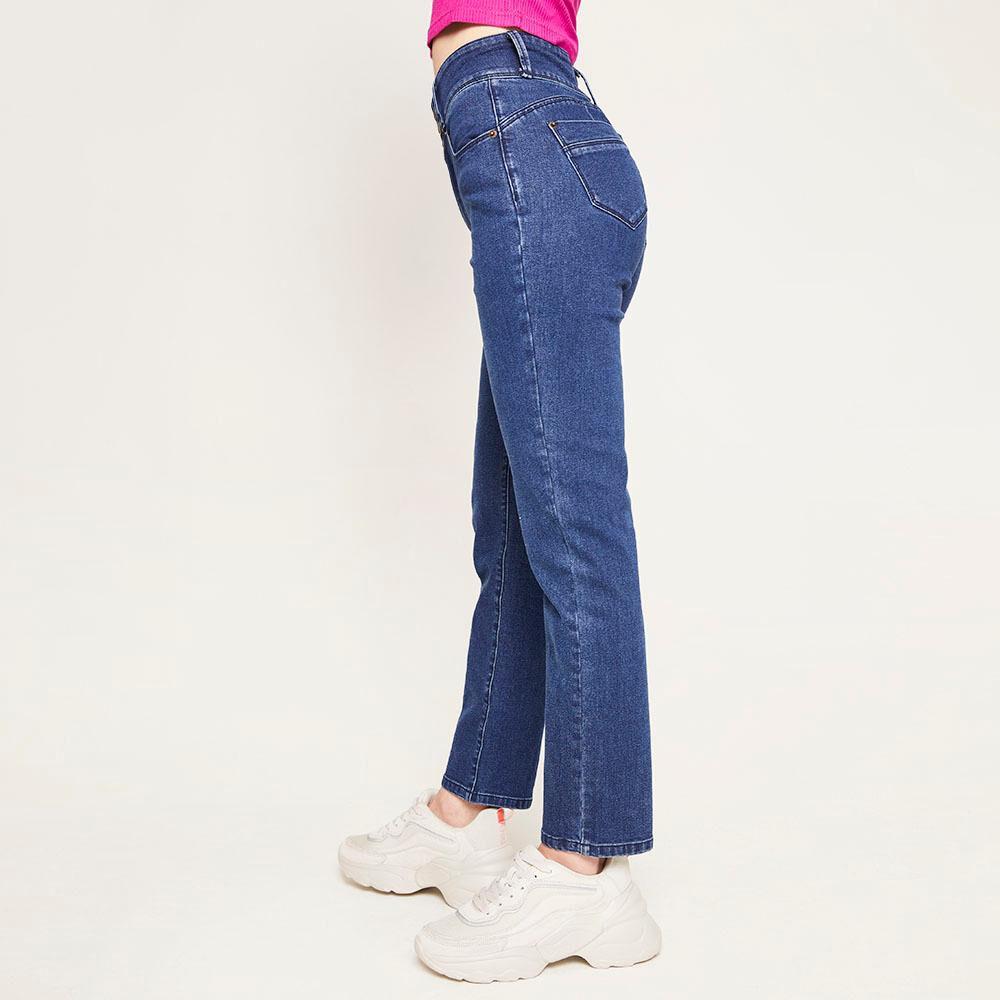 Jeans Pretina Ancha Botones Tiro Alto Sculpture Mujer Freedom image number 5.0
