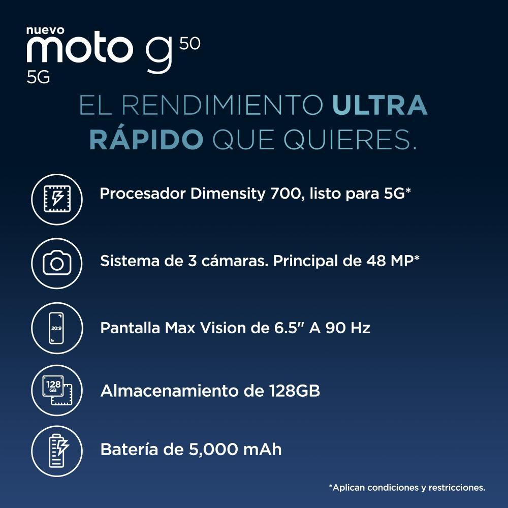 Smartphone Motorola G50 Azul / 128 Gb / Liberado image number 2.0