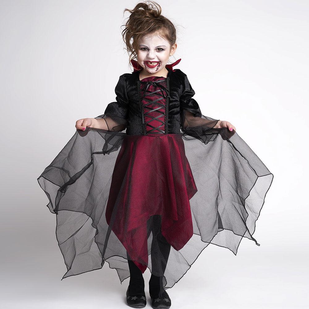 Disfraz Glam Vampira Niña Talla 4/6 image number 0.0
