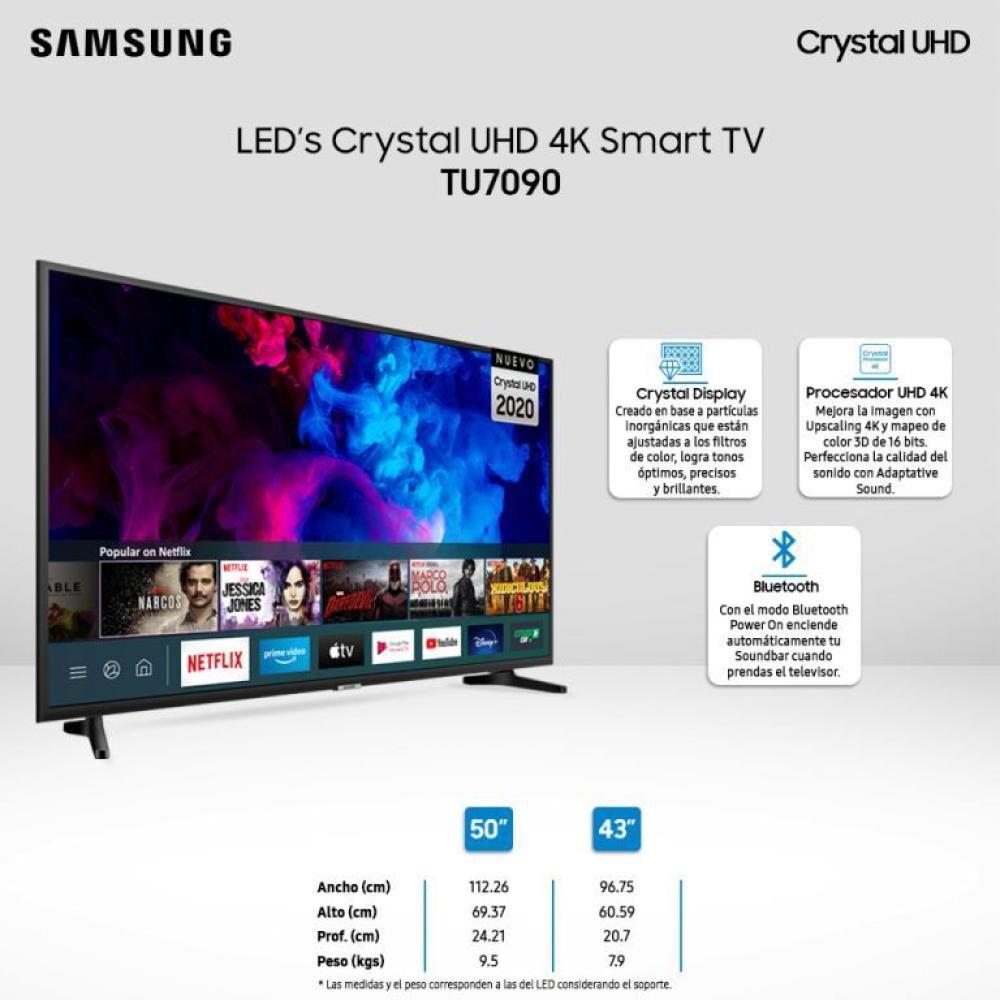 Led Samsung UN55TU7090 / 55'' /  Ultra HD 4K / Smart tv image number 3.0