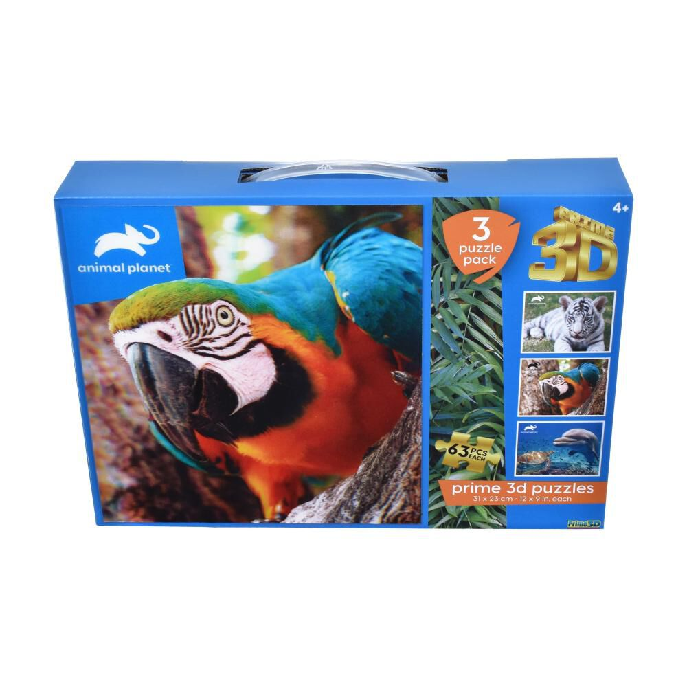 Pack 3 Puzzles Ansaldo 3d Animales image number 0.0