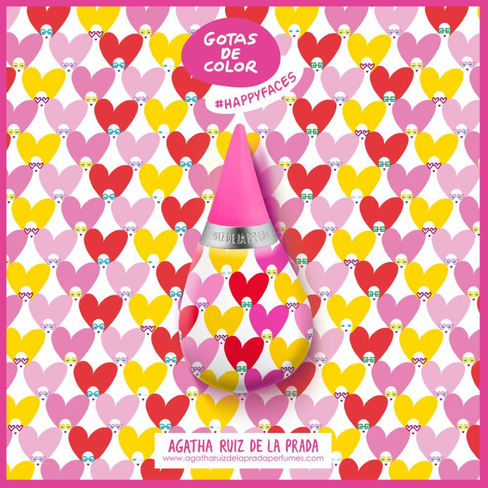 Perfume Mujer Gotas Happy Faces Agatha Ruiz De La Prada / 100 Ml / Eau De Toilette image number 1.0