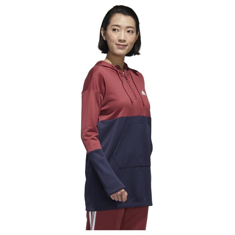Polerón Deportivo Mujer Adidas Con Capucha image number 2.0