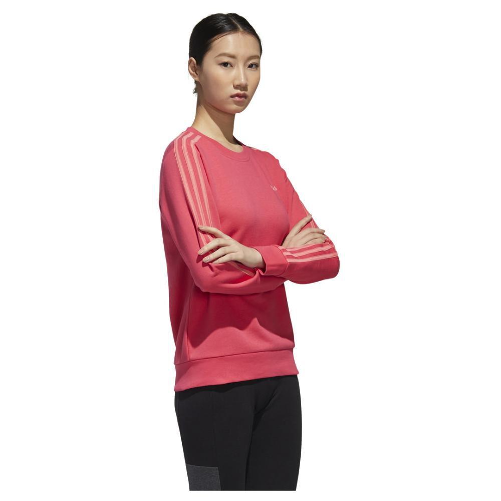 Polerón Deportivo Unisex Adidas Women Essentials 3 Stripe Sweat French Terry image number 4.0