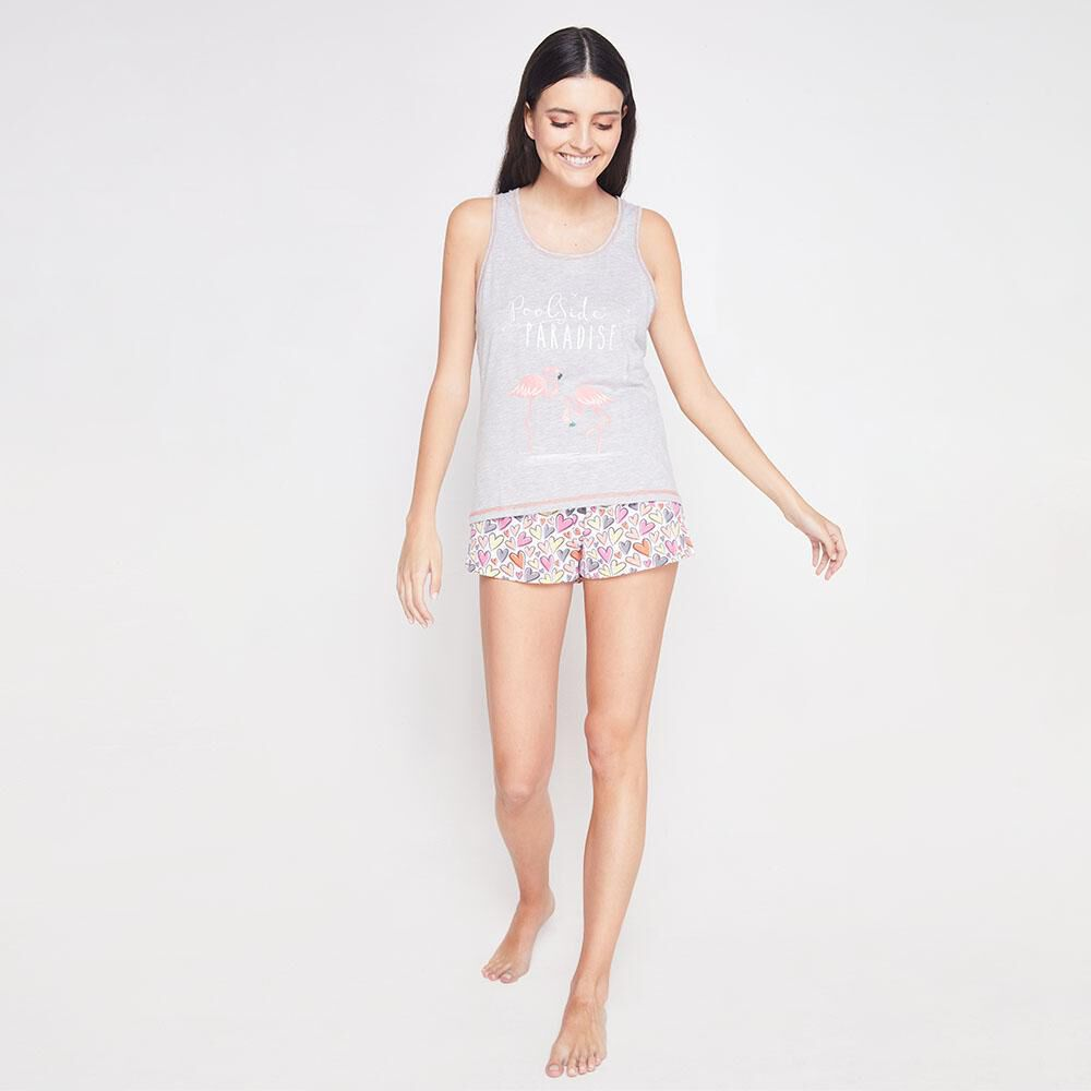 Short Pijama Mujer Freedom image number 1.0