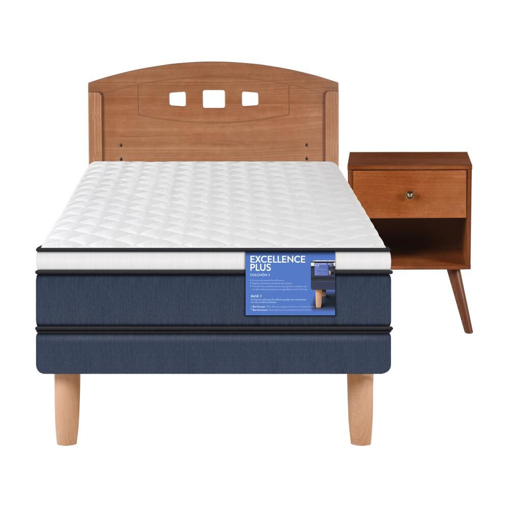 Cama Europea Cic Excellence Plus / 1 Plaza / Base Normal  + Set De Maderas image number 0.0