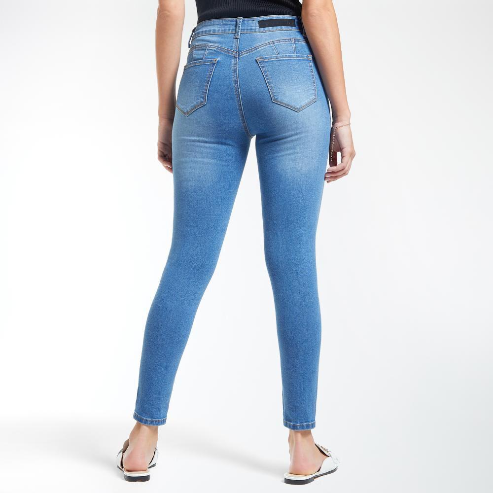 Jeans Mujer Tiro Alto Skinny Push Up Kimera image number 3.0