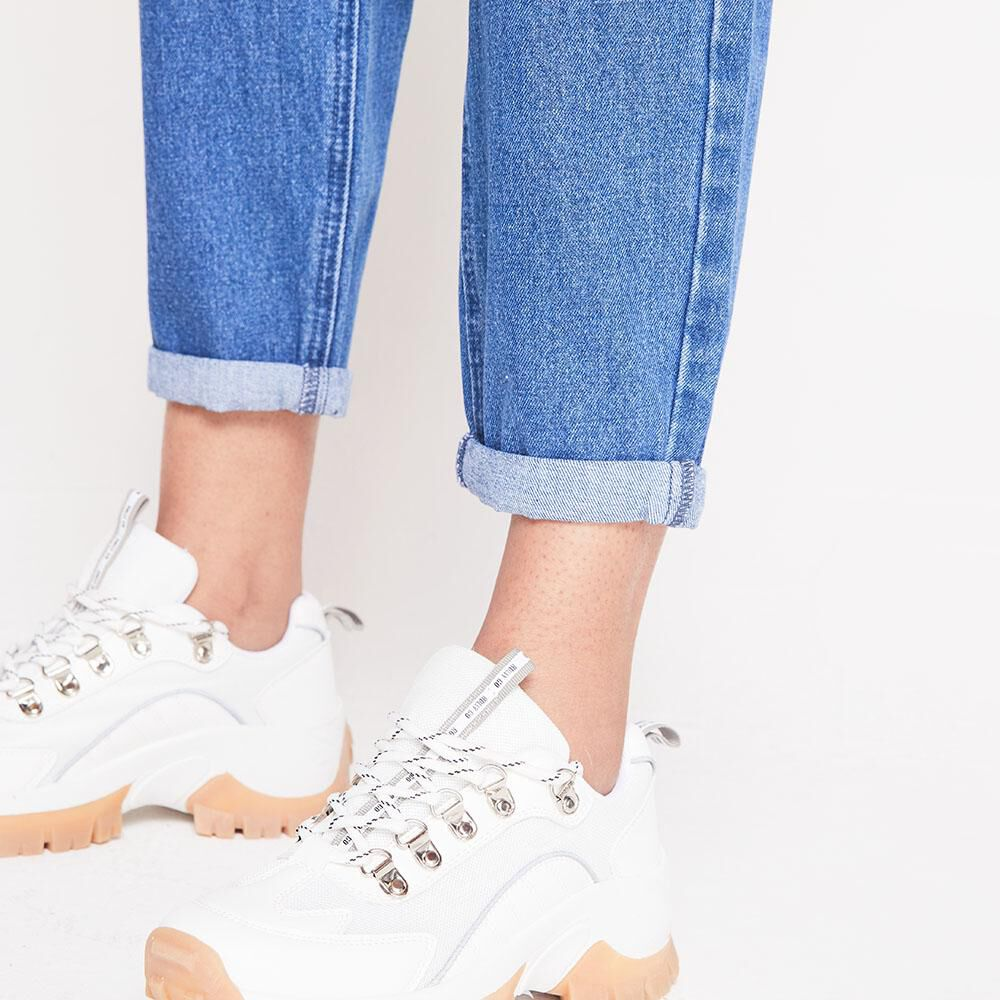 Jeans Tiro Alto Slouchy Mujer Rolly Go image number 4.0