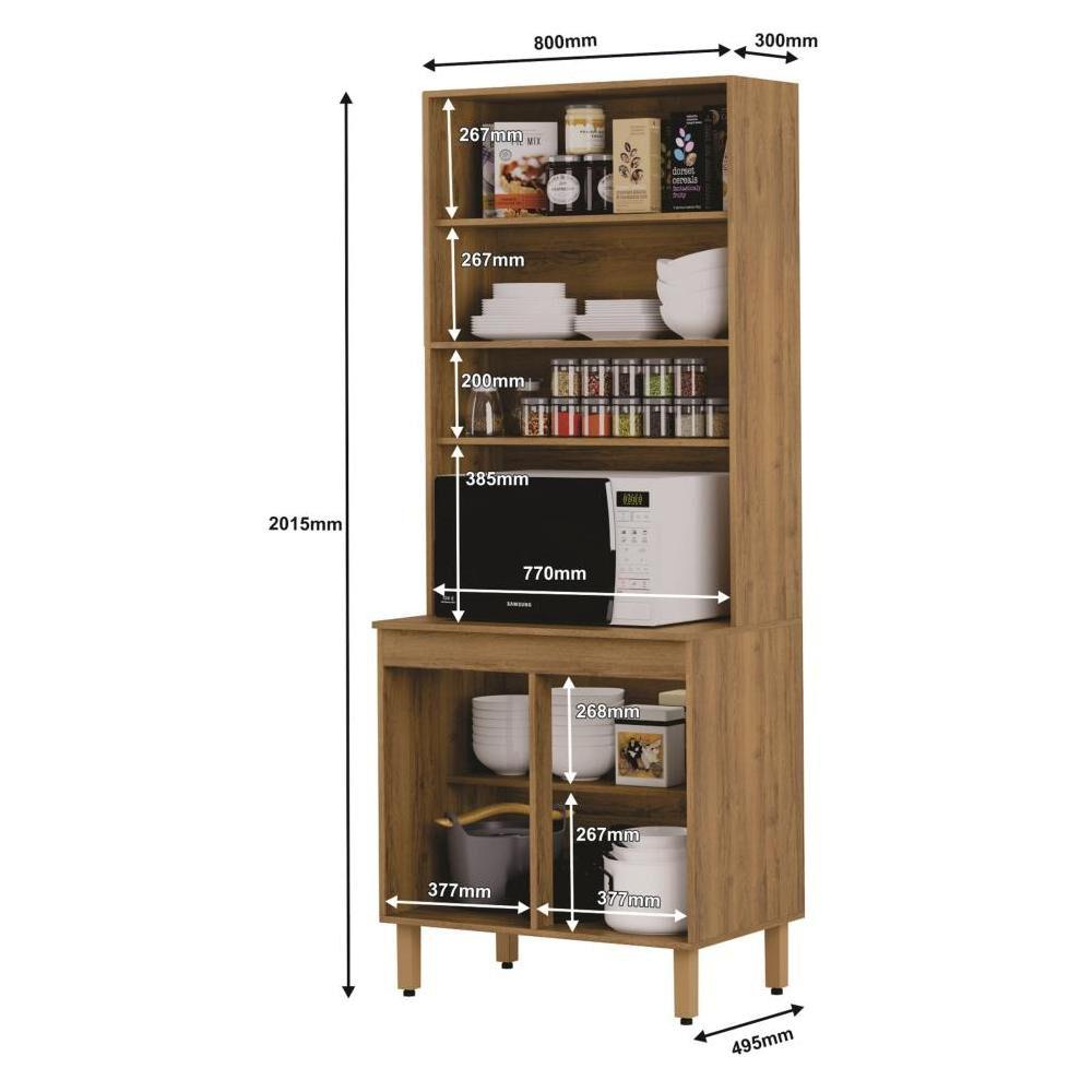 Mueble De Cocina Home Mobili Kalahari/montana / 4 Puertas image number 3.0