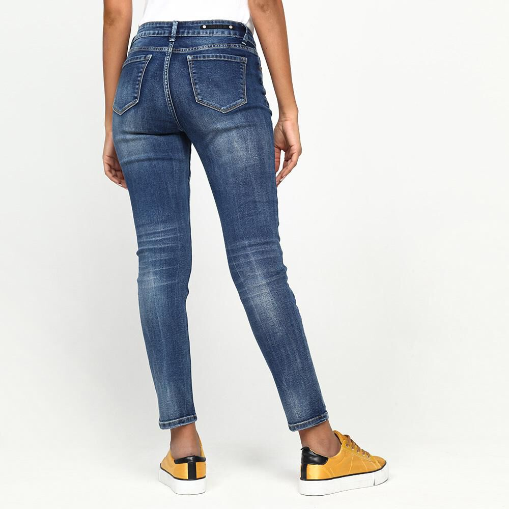 Jeans Mujer Tiro Medio Skinny Rolly go image number 2.0