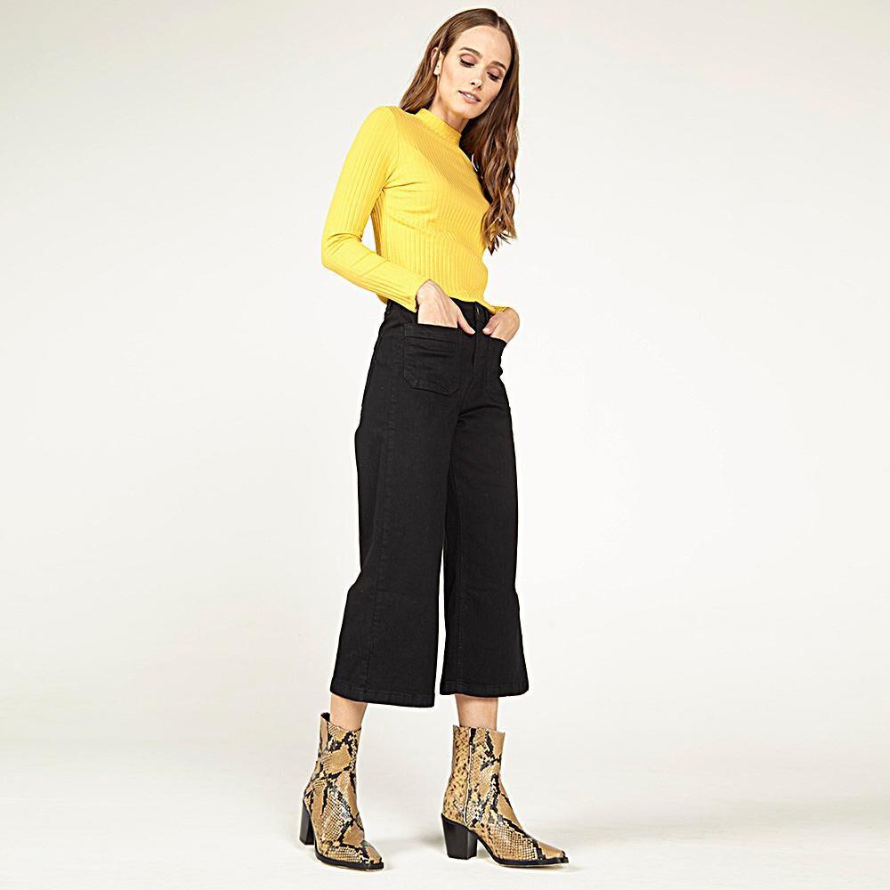 Jeans Mujer Tiro Medio Straight Kimera image number 2.0