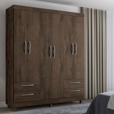 Closet Casaideal New Turin  / 6 Puertas    / 4 Cajones