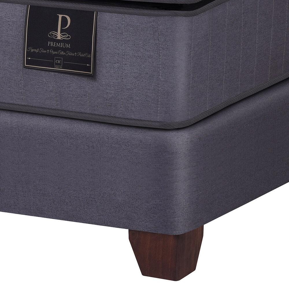 Box Spring Cic Premium / King / Base Dividida + Set De Maderas Milan image number 2.0