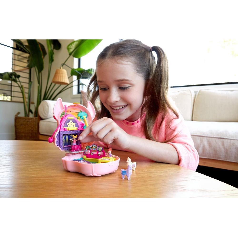 Mini Muñeca Polly Pocket Estuche De Llama image number 1.0