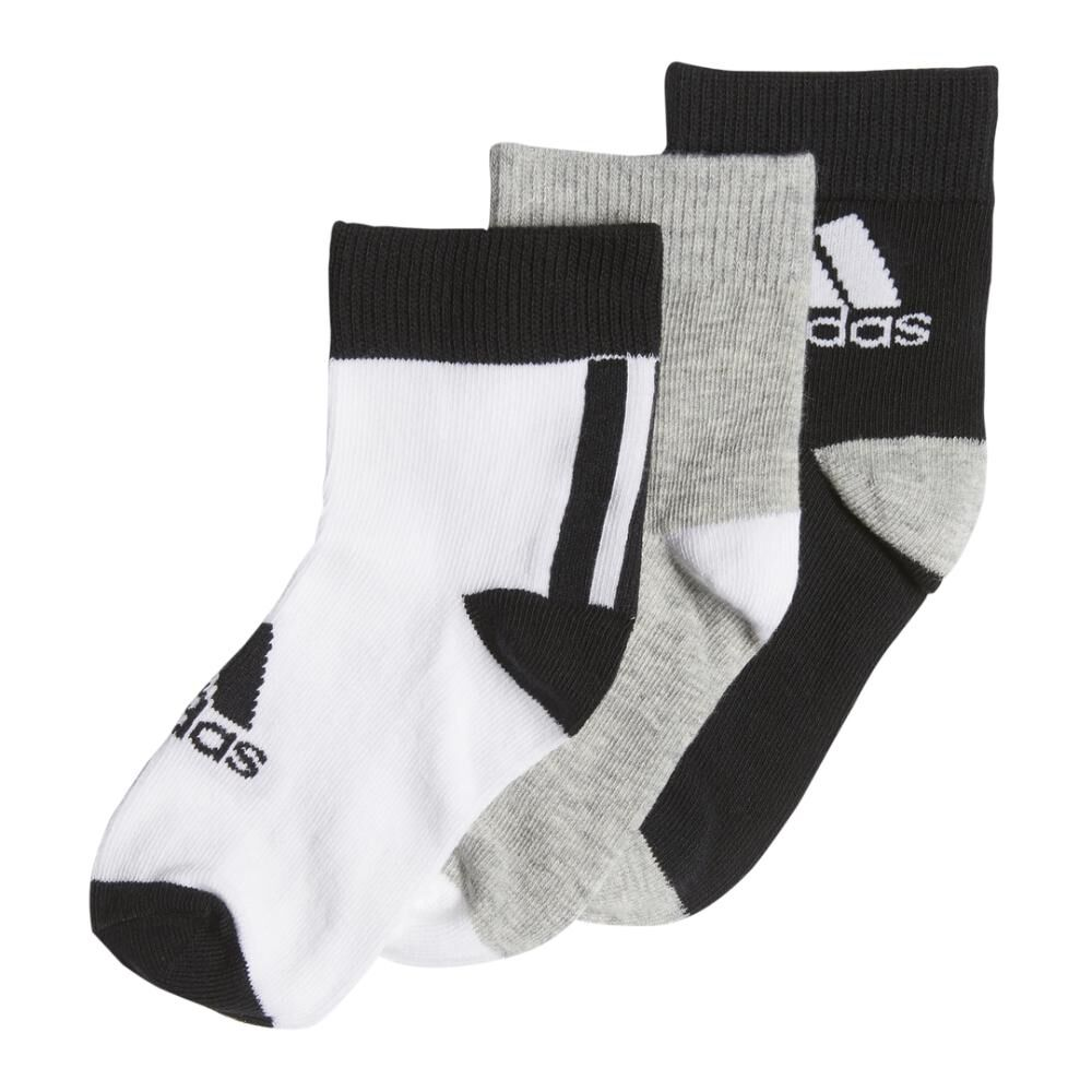 Calcetines Unisex Adidas Little Kids Ankle 3pp image number 1.0