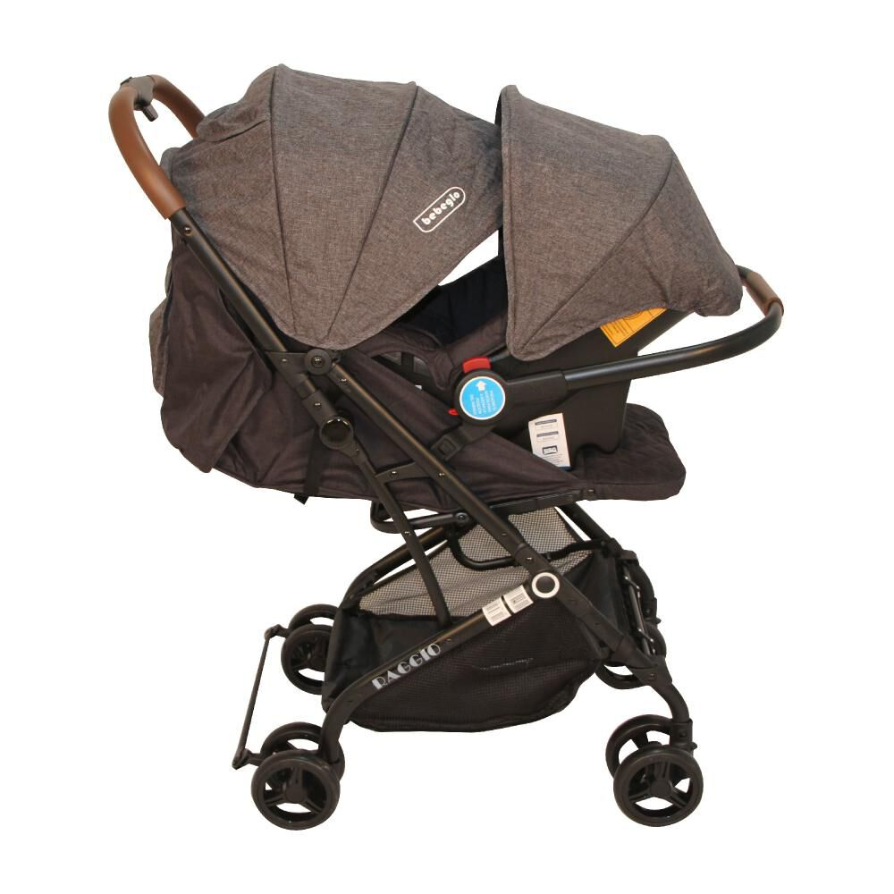 Coche Travel System Compacto Bebeglo RS-13785-3 Gris image number 7.0