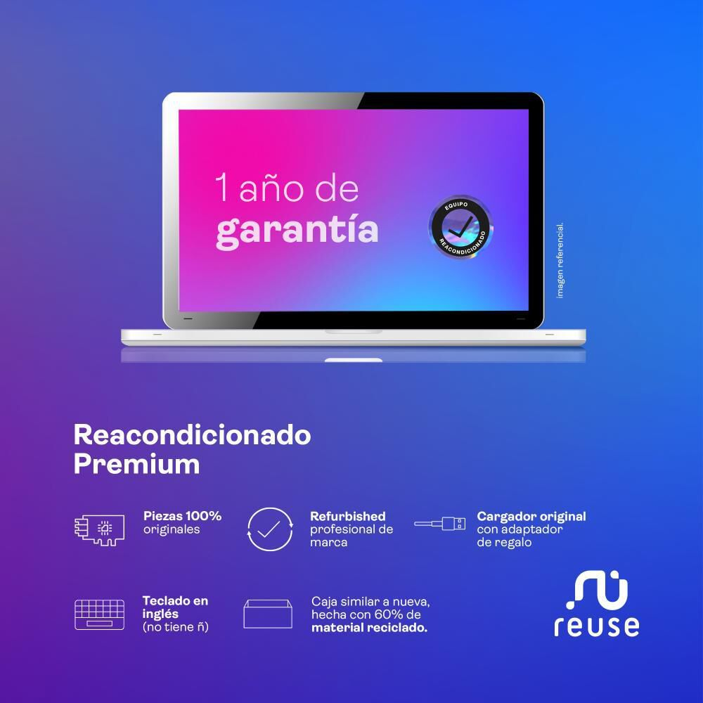 "Notebook Reacondicionado Dell 15-3593 / Intel Core I3 / 8 Gb Ram / Uhd Graphics 620 / 128 Gb Ssd / 15.6"" / Teclado En Inglés image number 3.0"