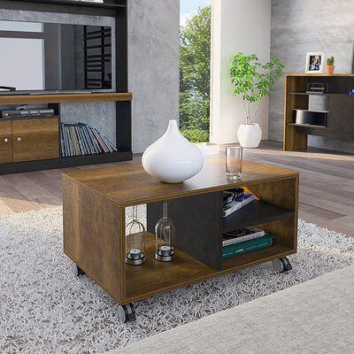 Combo Bar Casa Ideal Classic Color + Mesa De Centro Casa Ideal Classic Color