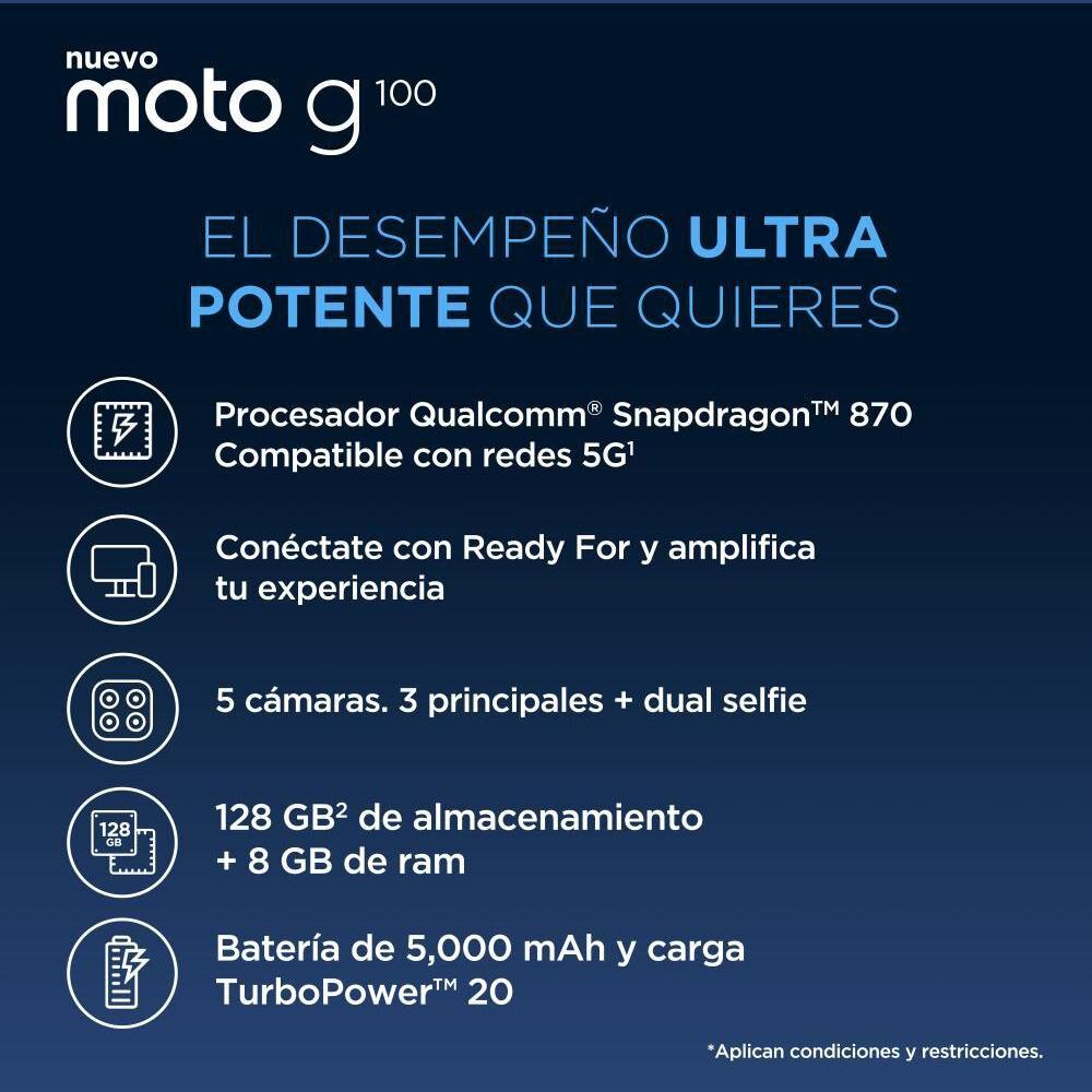 Smartphone Motorola G100 Verde Boreal / 128 Gb / Liberado image number 1.0