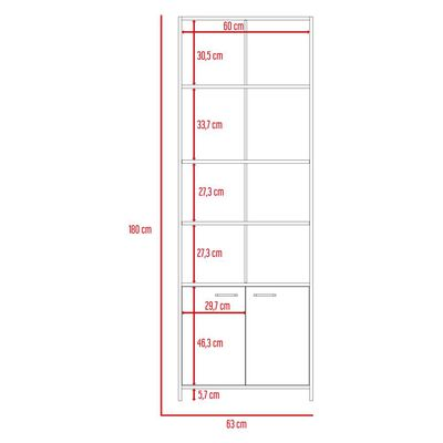 Estante Tuhome Lisa/ 2 Puertas