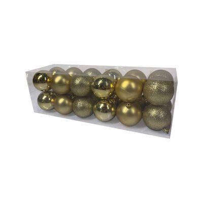 Esferas Casaideal Dorado 24 Piezas