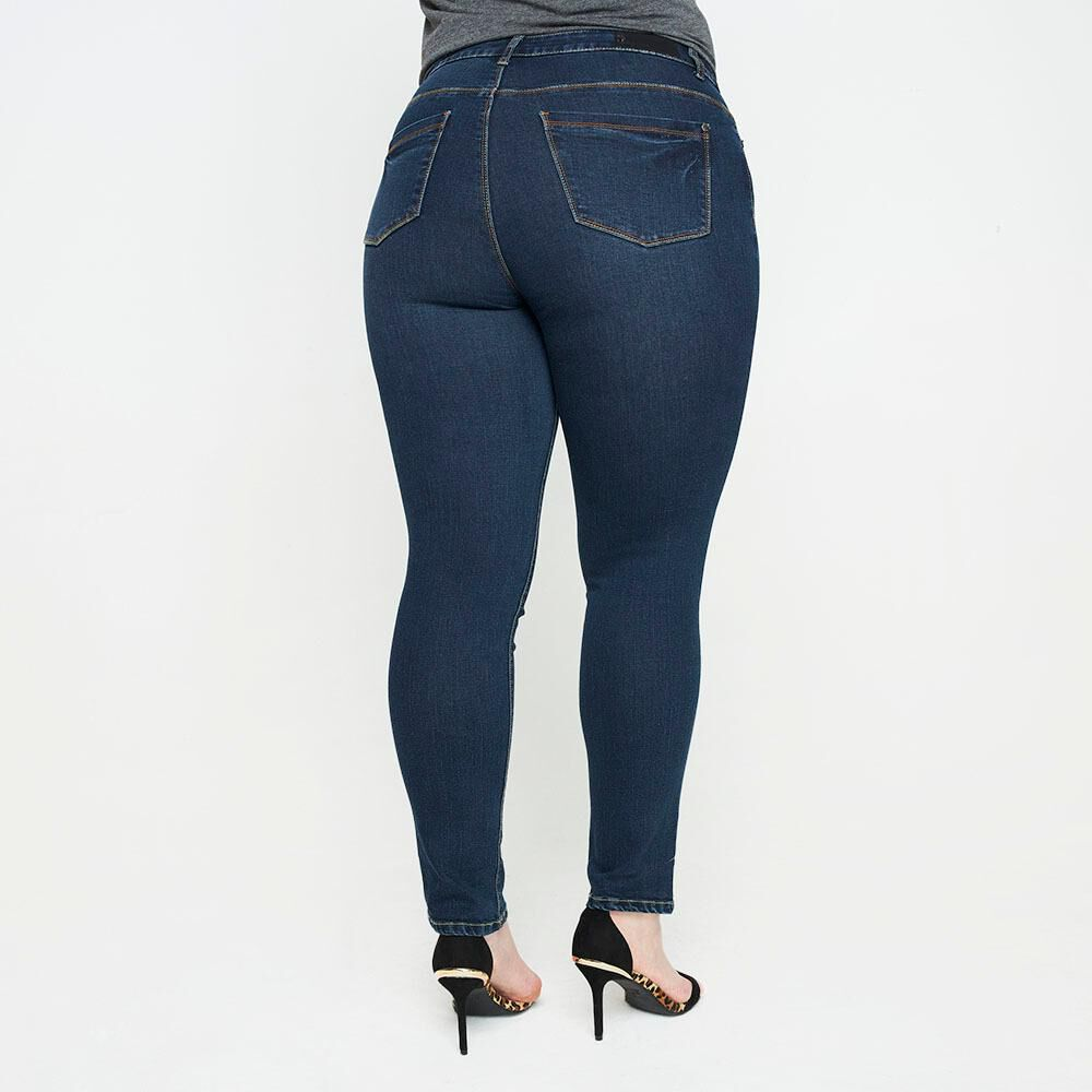 Jeans Tiro Alto Recto Mujer Sexy Large image number 2.0