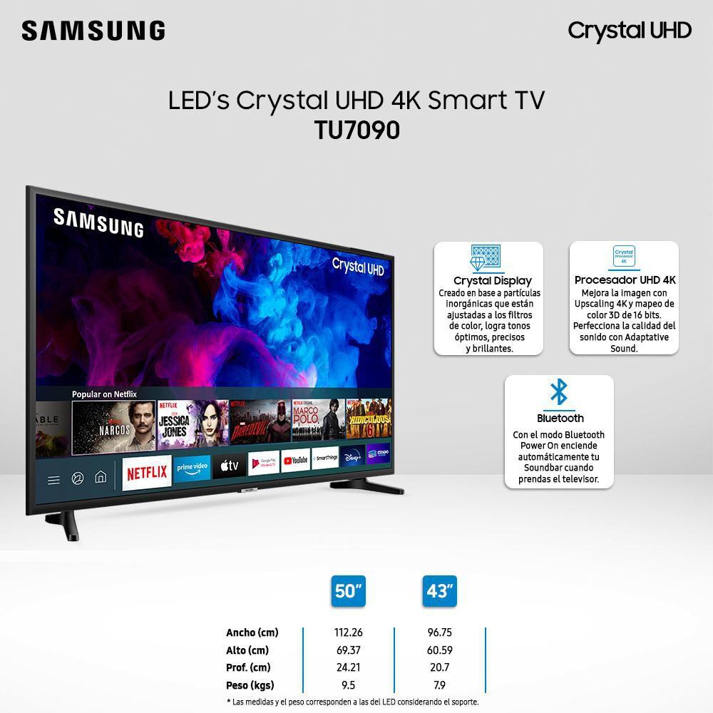 """Led Samsung TU7090 / 43"""" / Crystal Ultra Hd 4K /Smart Tv image number 2.0"""