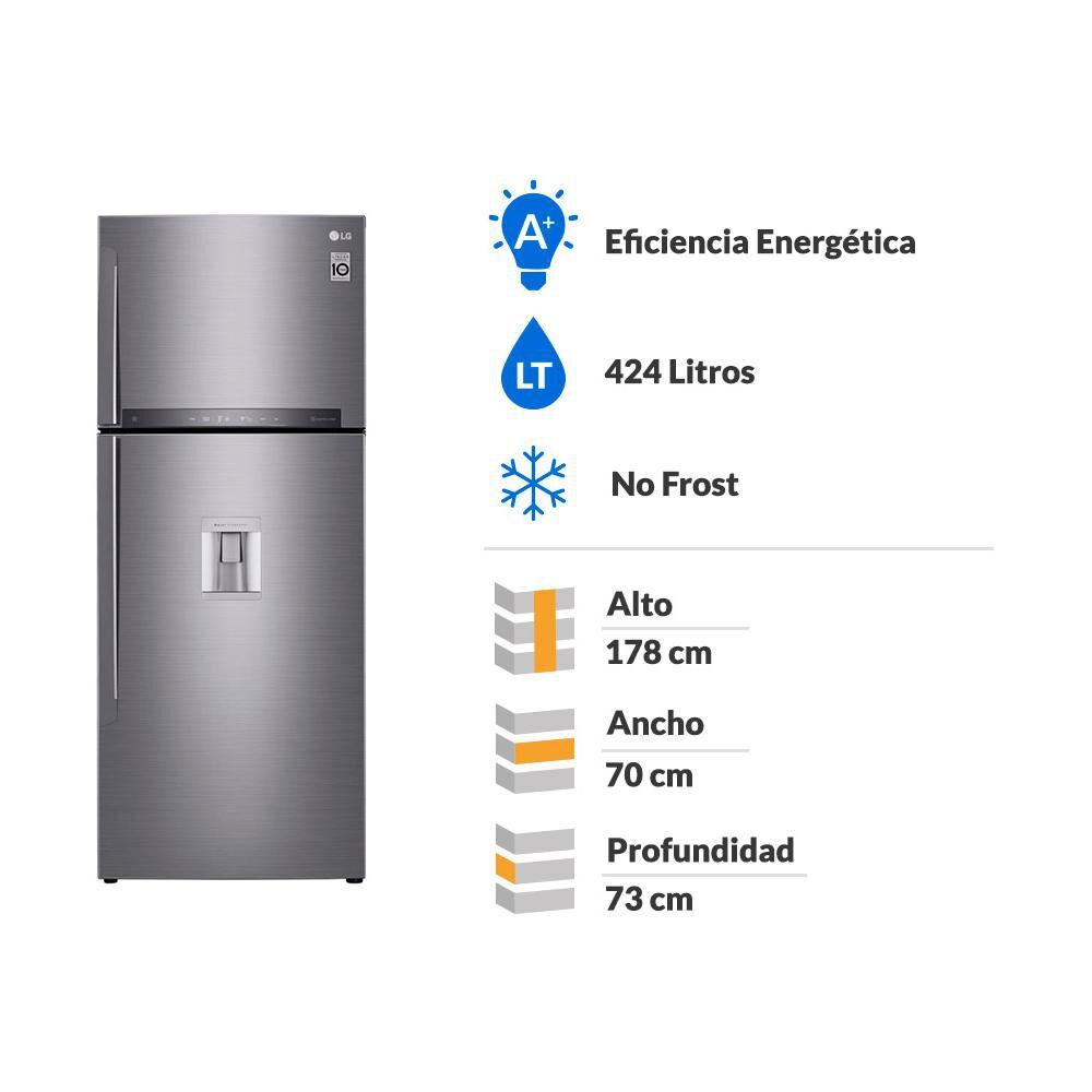 Refrigerador Top Freezer Lg LT44AGP / No Frost / 424 Litros, 401 A 600 Litros image number 1.0