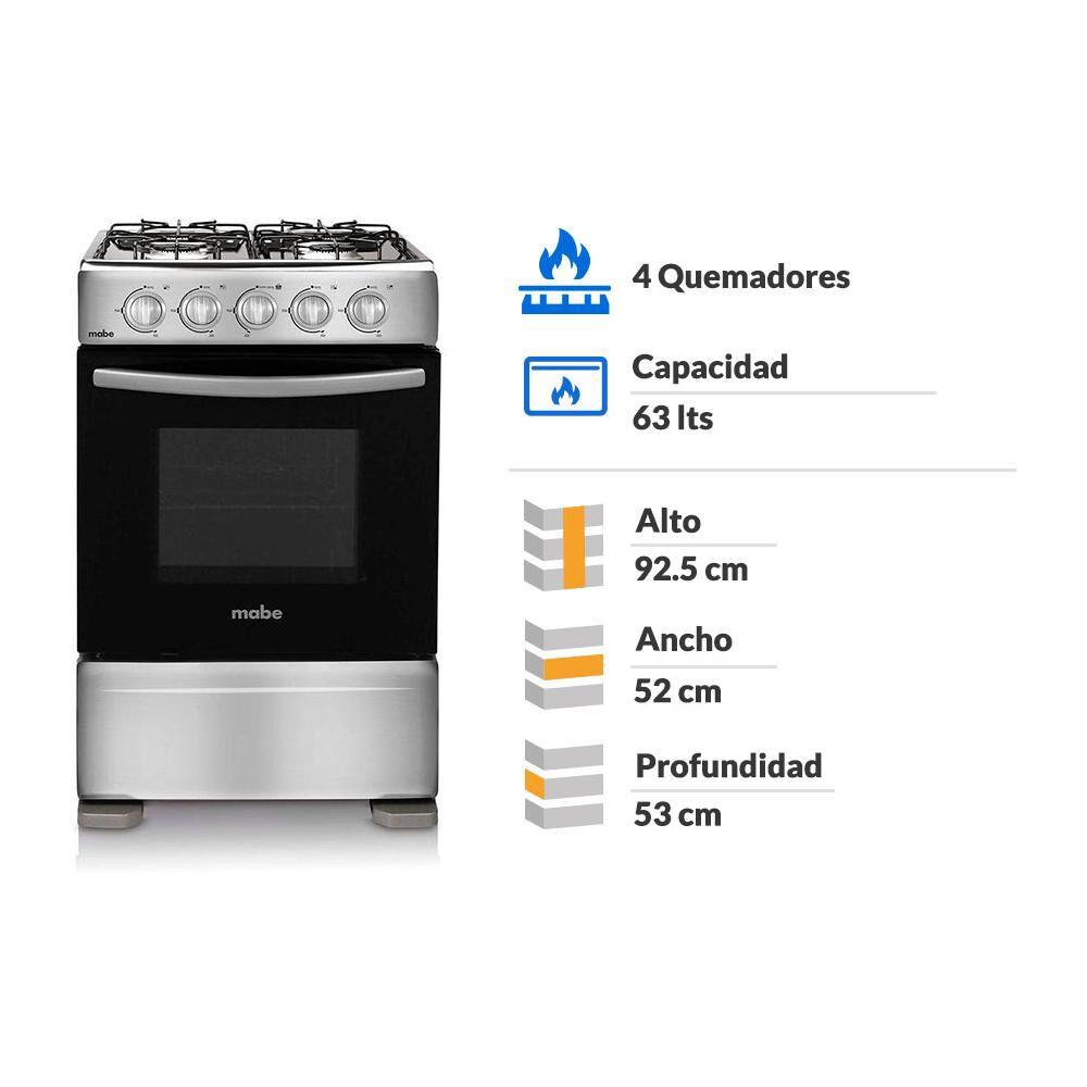 Cocina Mabe CMC20AXX-0 / 4 Quemadores image number 1.0