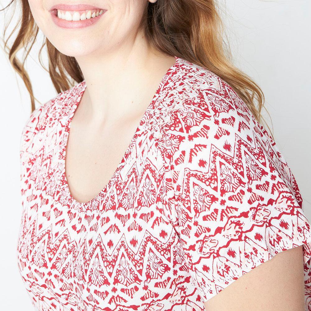 Polera Print Cuello Elasticado Mujer Sexy Large image number 3.0