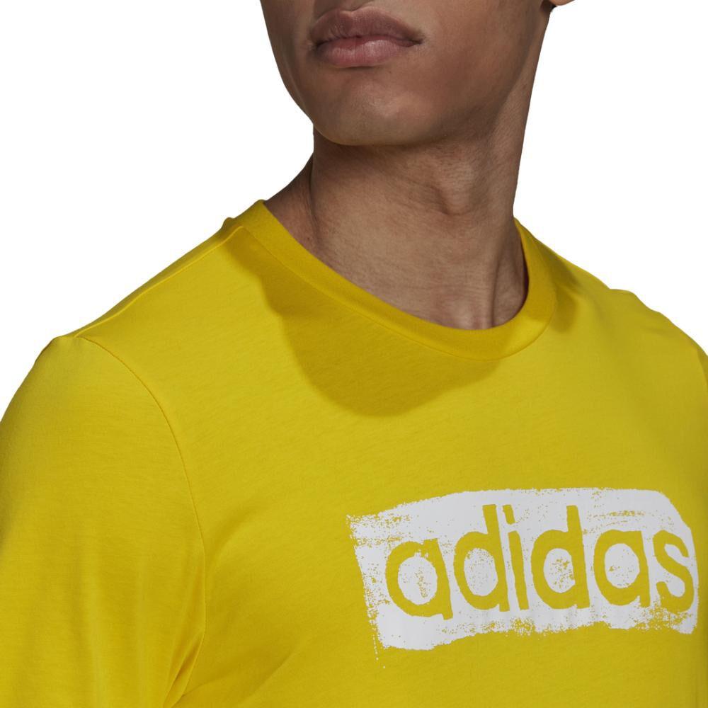 Polera Hombre Adidas Men Brushstroke V4 Tee image number 4.0