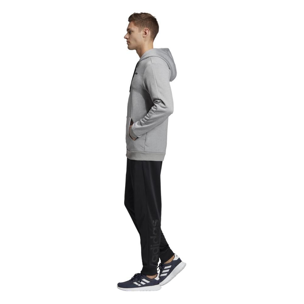 Buzo Con Capucha Hombre Adidas Linear French Terry image number 5.0