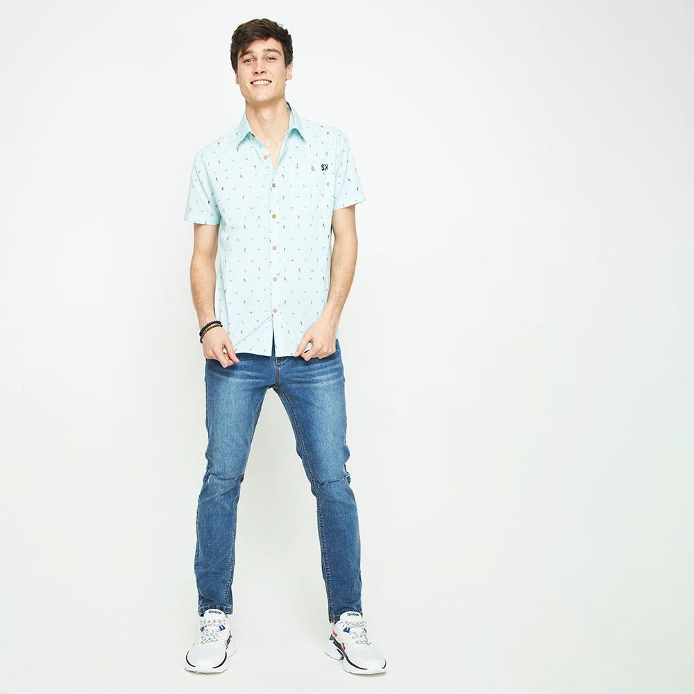 Camisa Sin Mangas Con Diseño Hombre Skuad image number 1.0